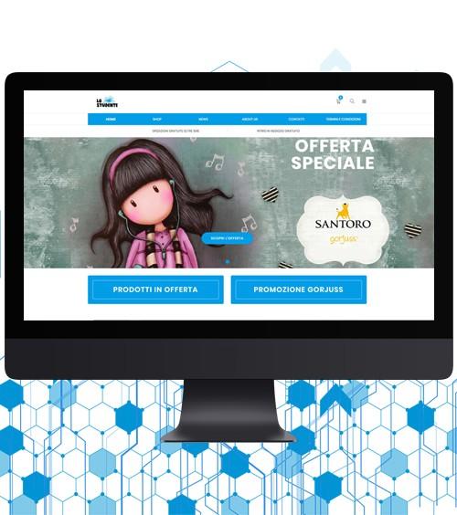 Infotronik Progetti Siti Web eCommerce Cartoleria Lo Studente Home Gallery
