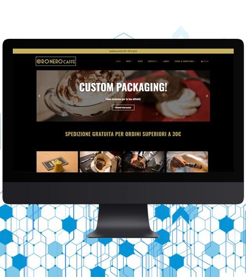 Infotronik Progetti Siti Web eCommerce Oro Nero Caffe Home Gallery